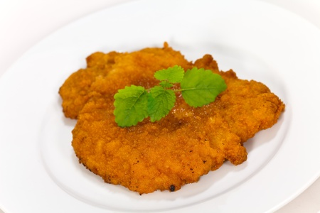 Schnitzel-Escalope- with French Fries photo