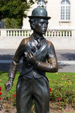 vevey: Monument of Charlie Chaplin,Vevey,Switzerland Stock Photo
