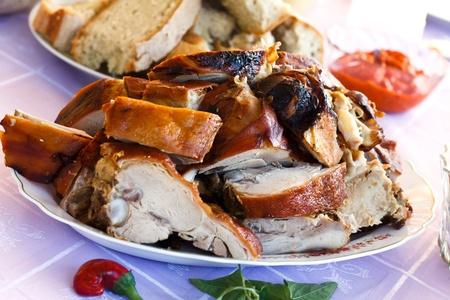 spanferkel: Gourmet-Backwaren-gegrillten Spanferkel