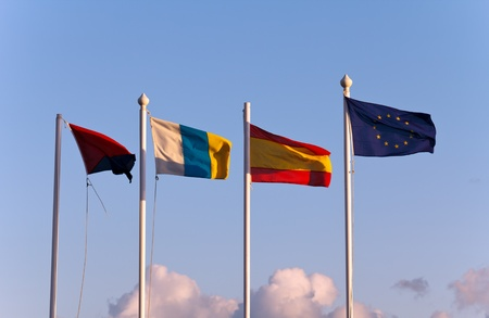 The flags of the european community countries photo