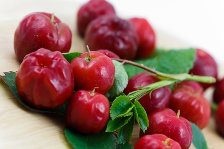 Acerola small cherry fruit with high quantity C Vitamin
