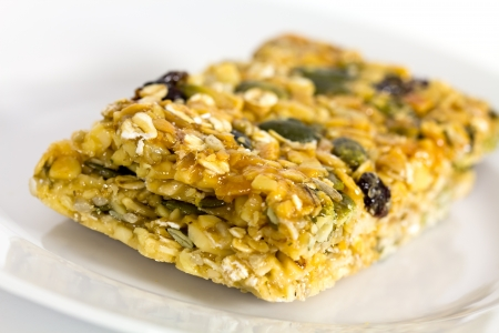 chewy: Oatmeal soft chewy fruit cookie with seeds Stock Photo