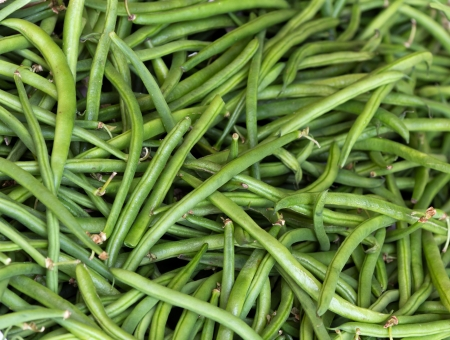 background  green wax beans Stock Photo - 20359953
