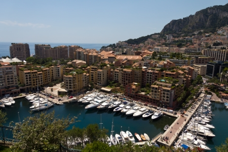 panoramic view of Monaco with the famous harbour  photo