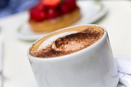 froth: Cappuccino, Froth Art Stock Photo