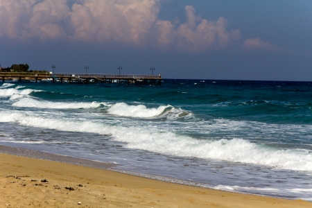 Wonderful sandy beach of Nissi Beach, on Cyprus island  photo