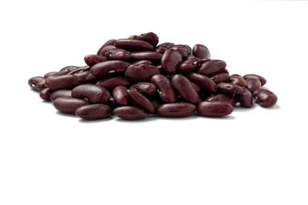 Red Kidney Beans side view, isolated on white with path