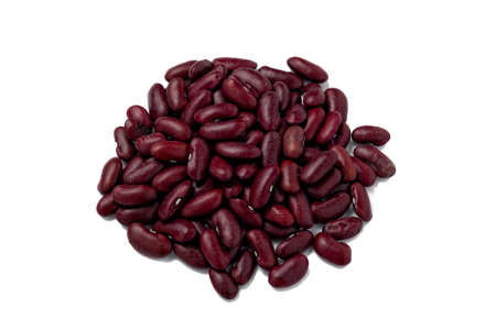 Red Kidney beans top view, isolated on white with path Stock Photo