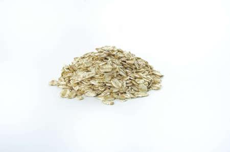 Jumboporridge oats on white background