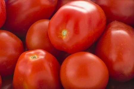Rijpe rode pruim tomaten Stockfoto