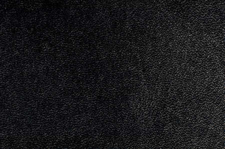 Macro shot of black textured leather  Suitable for background