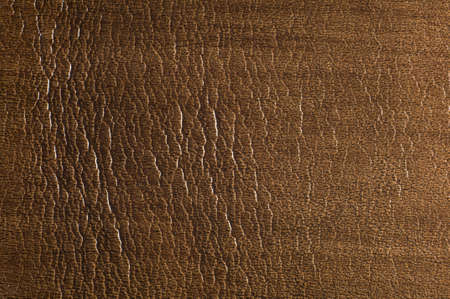Macro shot of brown, spotted, textured leather  Suitable for background  Stock Photo