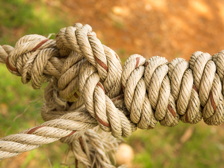 tightly: Rope tied with tightly.
