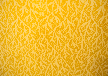 gold fabric: Close Up of gold fabric delicate at stripe pattern background. Stock Photo