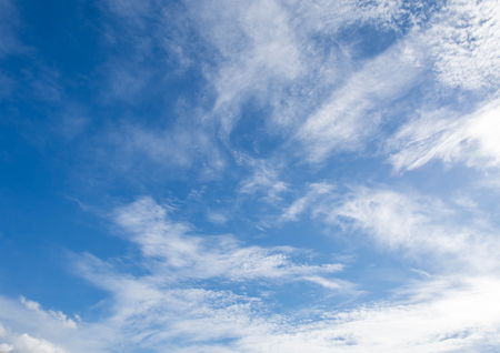disrupted: Blue sky background with white clouds on the bright day summer.