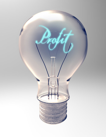 light source: lightbulb with creative light source represent profit