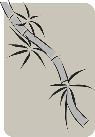 simplify  chinese ink paint stye bamboo background Vector