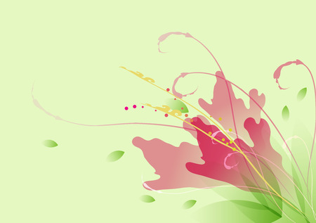 mimic: colorful floral element vector background mimic watercolor style
