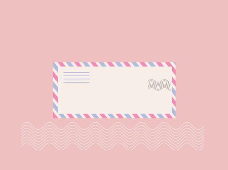 envelop: air mail letter envelop for background template Illustration