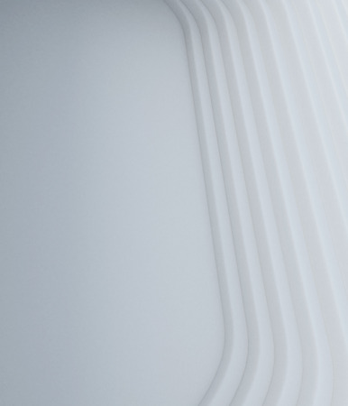 mimic: abstract white geometry 3d render background mimic architecture element  Stock Photo