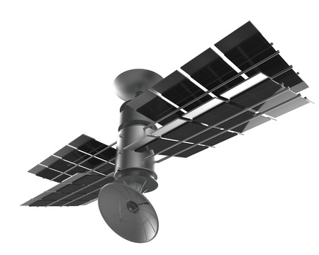 satélite aislar en blanco