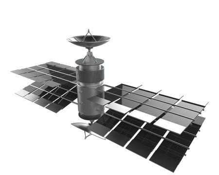 sattelite: satellite isolate on white