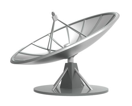 sattelite: satellite dish isolate on white background