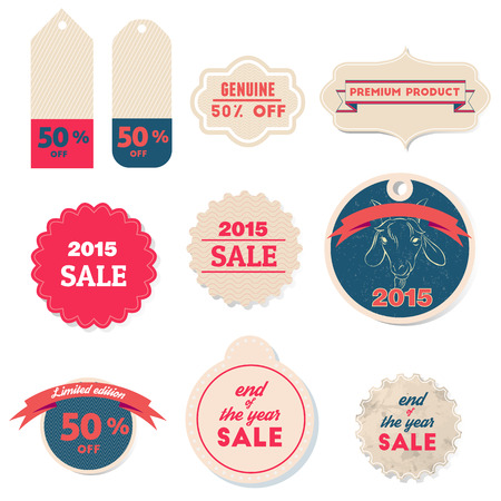 2015 sale Retro labels and Vintage labels collection. Premium Quality Guarantee vintage styled signs set. Vector