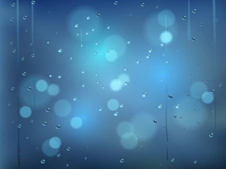 rain window: Rainy days,Rain drops on window,rainy weather,rain background,rain and bokeh vector illustration