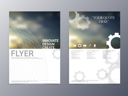 vector modern flyer brochure design template for use as coperate presentation or product advertise  イラスト・ベクター素材
