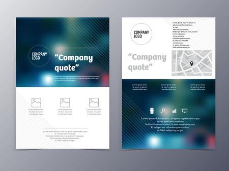 blue graphic design element flyer template Vector