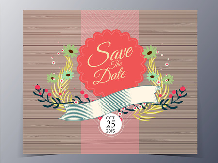 wedding design invitation  vector illustration for use as card, poster, etc Vector