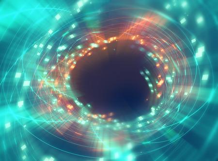 kleurrijke geometrische ronde tunnelshape abstract voor gebruik als technologie achtergrond-concept