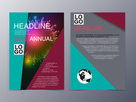 Retro Color Table Style Flyer Template Vector Illustration For