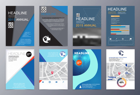 product presentation: set of abstract geometric modern style  brochure template vector illustration for use as product presentation or company presentation infographic Illustration