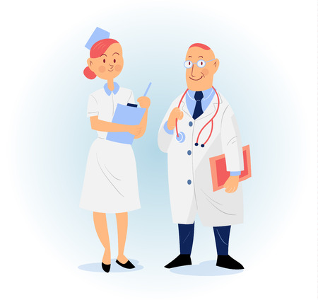 charactor: set of medical people, doctor and nurse