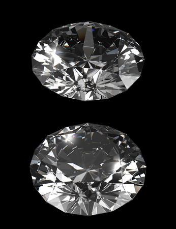 dazzling: dazzling Diamond isolated on black  photo-realistic 3d rendering with clipping mask