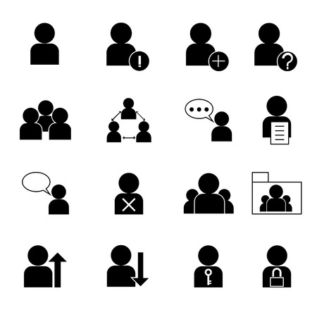resource management: set of web user icon, business person,human resource management