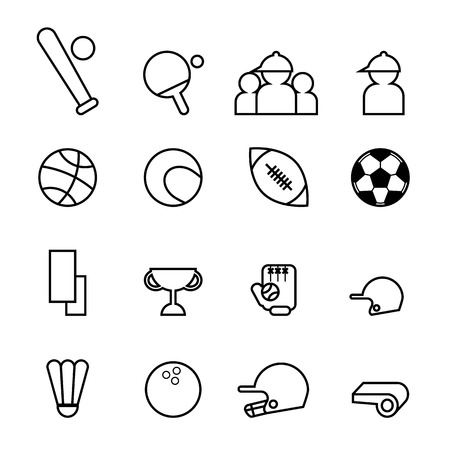 soccer coach: sport icons in thin line style modern vector illustration Illustration