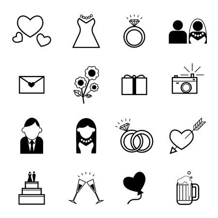 Web icon set , Wedding, marriage, bridal,wedding ceremony element