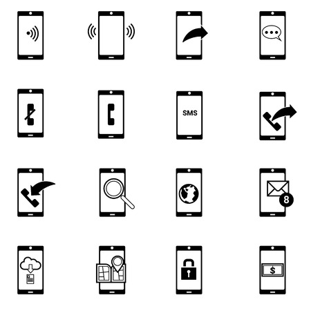 email contact: mobile devices and wireless technology ,include contact button,email,phone ,message icons Illustration