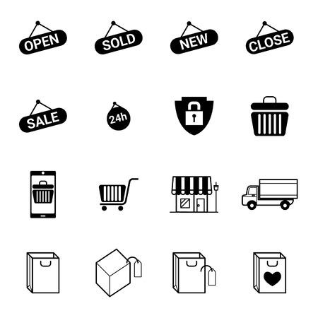 supermarket services: set of supermarket services, Shopping Icons ,online marketing,online market.