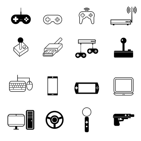 gun control: various type of vdo game icons set vector illustration For Mobile, Web And Applications