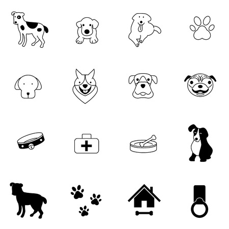 dog icons set vector illustration For Mobile, Web And Applications Vector