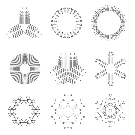 vintage light rays icons set vector illustration For Mobile, Web And Applications 矢量图像