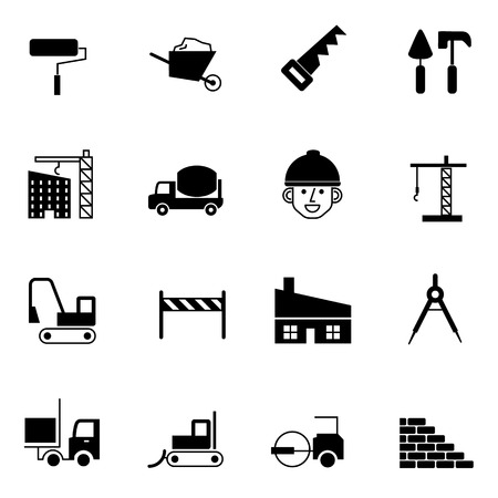 construction dozer: construction and engineer icons set vector illustration For Mobile, Web And Applications Illustration