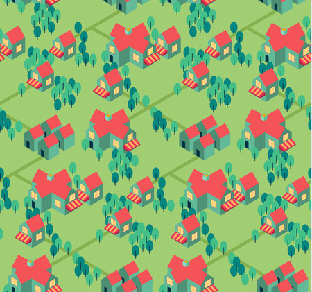 rural road: countryside town   ector seamless pattern  can be used for wallpaper, pattern fill, web page background,surface texture.