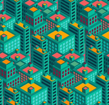 modern city geometry  vector seamless pattern  can be used for wallpaper, pattern fill, web page background,surface texture.