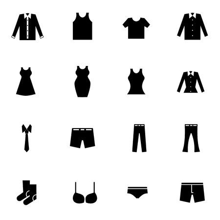 slip homme: tissu et de la mode icons set illustration de vecteur pour le mobile, web et des applications