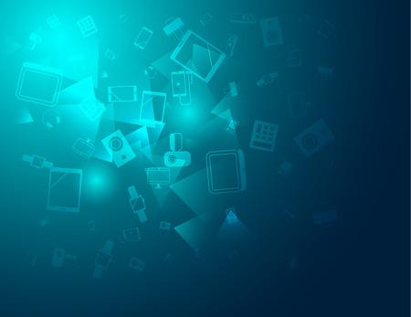Arrière-plan de la technologie sujet connexe pour l'utiliser comme fond, notice, dépliant, brochure couvercle Banque d'images - 43694849